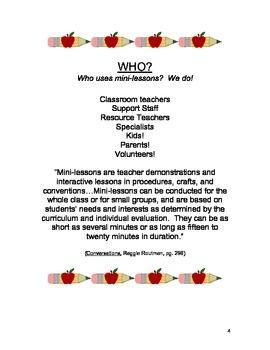Mini-Lessons to Strengthen Your Pre-School or Kindergarten Program