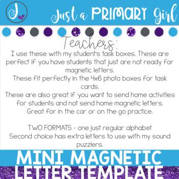 Mini Letter Template