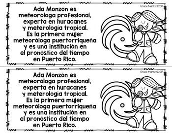 Mini Libro Meteoróloga Ada Monzón
