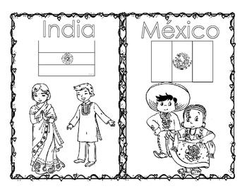 Mini Libro sobre; Los niños del mundo