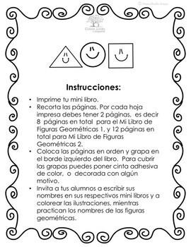 Mini Libros de Figuras Geométricas en Español