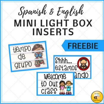 Mini Light Box Inserts - FREEBIE (Spanish & English)