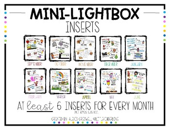 Mini Light Box Inserts Growing Bundle