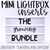 Mini Lightbox Inserts | GROWING BUNDLE