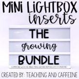 Mini Lightbox Inserts | GROWING BUNDLE