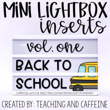 Mini Lightbox Inserts | Volume One