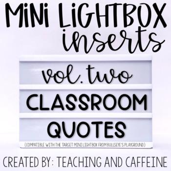 Mini Lightbox Inserts | Set Two