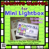 Mini Lightbox - Positive Quotes