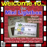 Mini Lightbox Welcome to... Signs