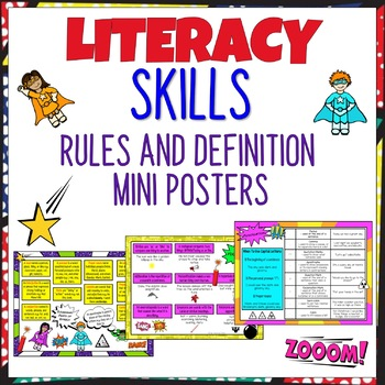 Mini Literacy Skills Rule and Definition Posters British Spelling