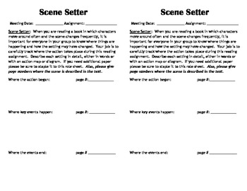 Mini Literature Circle Role Sheets