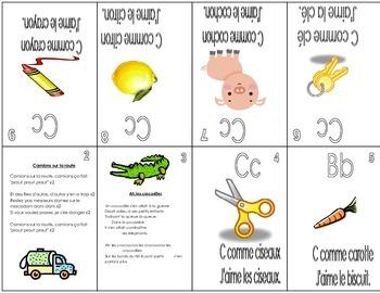 Mini-Livrets d'alphabet (In FRENCH)