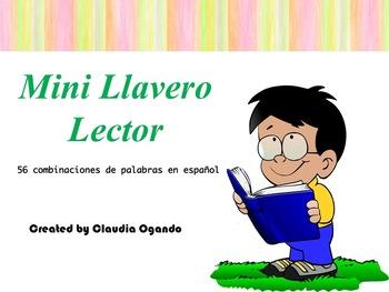 Mini Llavero Lector- lecturas de palabras en español