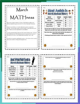Mini March MATHness-Combo Pack: March Madness Games & Engaging Math Activities
