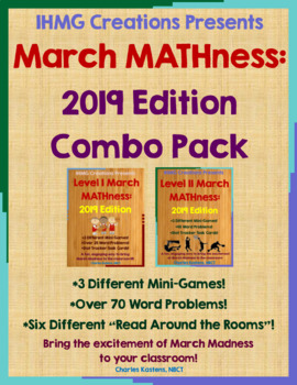 Mini March MATHness-Combo Pack: March Madness Games & Enga