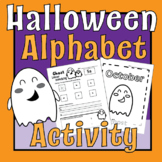 Ghost Marshmallow/Tab- Letter Recognition & Writing Practi
