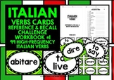 ITALIAN VERBS GAMES CARDS & RECALL WORKBOOK #1