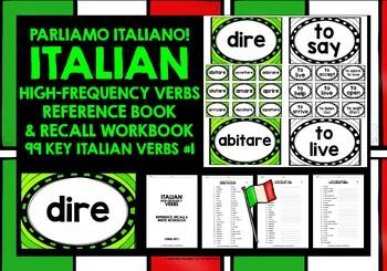 ITALIAN VERBS (1) - GAMES & ACTIVITIES - 99 VERBS