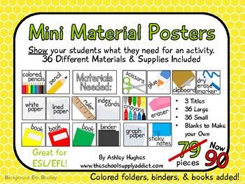 Mini Material Posters {A Hughes Design}