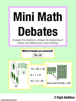 Mini Math Debates: Promote Math Talk with 2 Digit Addition (Grade 1-3)