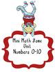 Mini Math Game Unit Numbers 0-10