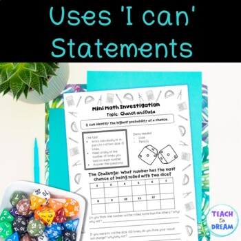 Mini Math Investigations: Chance and Data Tasks and Activities (worksheets)
