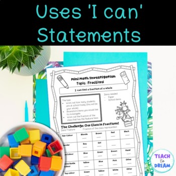 Mini Math Investigations: Fractions Tasks and Activities Worksheets