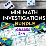 Mini Math Investigations: MEGA BUNDLE - 10 TOPICS, Tasks and Activities