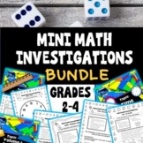 Mini Math Investigations: MEGA BUNDLE - 10 TOPICS, Tasks a