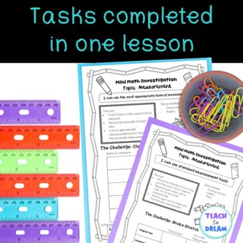 Mini Math Investigations: Measurement, Measurement Tasks and Activities