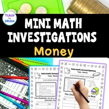 Mini Math Investigations: Money Tasks and Activities (worksheets)