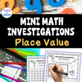 Mini Math Investigations | Place Value and Number Patterns worksheets