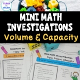 Mini Math Investigations: Volume and Capacity Worksheets , Tasks and Activities:
