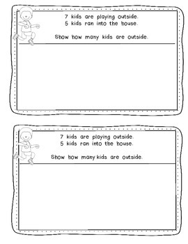 """Mini"" Math Journals for Kindergarten {Addition, Subtraction and Teen Numbers}"