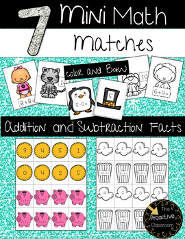 Mini Math Matches Addition and Subtraction to 20