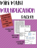 Mini Math Multiplication Packet
