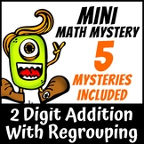 Mini Math Mystery - 2 Digit Addition with Regrouping