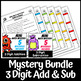 Mini Math Mystery 3 Digit Addition and Subtraction Regrouping Bundle