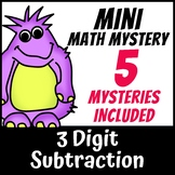Mini Math Mystery - 3 Digit Subtraction with Regrouping