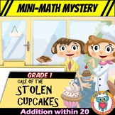 Mini-Math Mystery Activity 1st Grade - Addition within 20 Facts & Word Problems