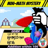 Mini-Math Mystery Activity 2nd Grade - Addition within 100 & Word Problems