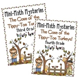 3rd & 4th Gr. Word Problems Mini Math Mystery Bundle - Cas