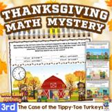 3rd Grade Word Problems - Mini-Math Mystery - Case of the Tippy-Toe Turkeys