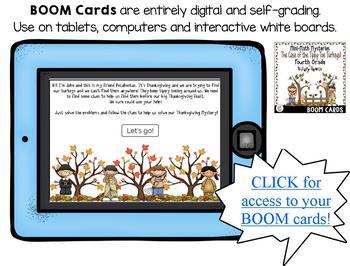 Mini-Math Mystery-Case of the Tippy-Toe Turkeys-Grade 4 - BOOM Cards