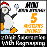 Mini Math Mystery Christmas - 2 Digit Subtraction with Regrouping