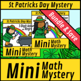 Mini Math Mystery St Pat's 3 Digit Addition and Subtraction with Regrouping