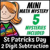 Mini Math Mystery St Patricks Day - 2 Digit Subtraction with Regrouping