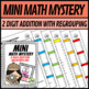 Mini Math Mystery Valentines Day - 2 Digit Addition with Regrouping