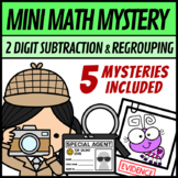 Mini Math Mystery Valentines Day - 2 Digit Subtraction with Regrouping