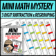 Mini Math Mystery Valentines Day - 3 Digit Subtraction with Regrouping